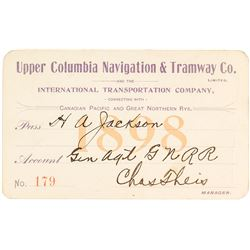 Upper Columbia Navigation & Tramway Co. Steamer Pass (1898)
