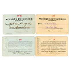 Wilmington Transportation Co. Steamer Passes (1905 & 1906) (Catalina Island)