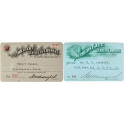 Northern Express & Northern Pacific Express Company Passes