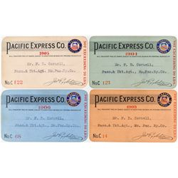 Pacific Express Company Pass Collection: 1903, 1904, 1905, 1906