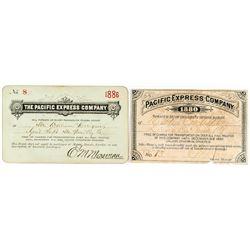 Pacific Express Company Passes: 1880 & 1886