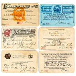 United Express Company Annual Pass Collection: 1888-1905