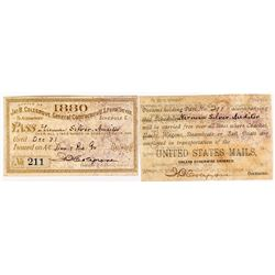 United States Mail Annual Pass (1880)