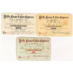 Wells Fargo Express Annual Passes (3): 1888-1898