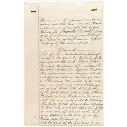 American Express Railroad Contract, James C. Fargo as President 1882