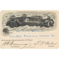 Northern Pacific Express Company Pass (1895)