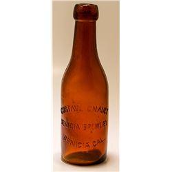 Benicia Brewery Split Beer Bottle