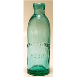 Pearson Brothers Bodie, California Soda Bottle