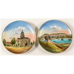 2 Billings Souvenir Plates