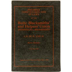 Butte Blacksmiths' and Helpers' Union By-laws & Constitution