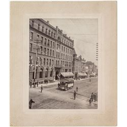 Corner of Park and Main Trolley Photograph (Butte, Montana)