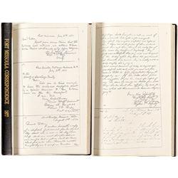 Fort Missoula Bound Correspondence Copies