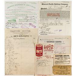 Pre-1900 Virginia City Ephemera including Business Card