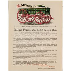 Broadside/Handbill for The Mitchell Wagon (Virginia City, Montana)