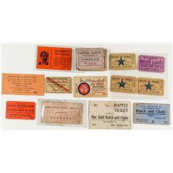 14 Various Montana Tickets
