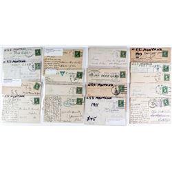 17 U. S. S. Montana Postcards