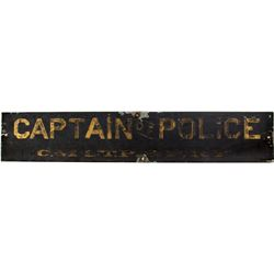 Captain of Police Sign