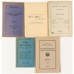 Montana Education Booklets