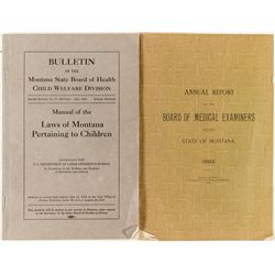 Two Montana Medical Booklets
