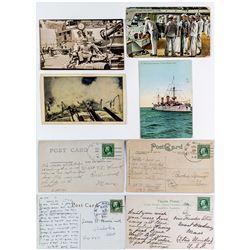USS Montana Naval Postcards