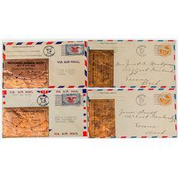 National Air Mail Week Copper Envelopes