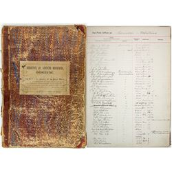 Money Order Book w/ maps of Routes