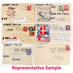 Great Falls Remainder Lot with Air Mail, Special Markings and Contents