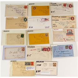 Different Helena Postal Markings and Content