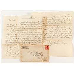 1892 Miles City Cover and Letter