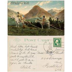 Wint, Fergus County 1916 Cancel