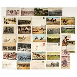 Montana Cowboy Related Postcards