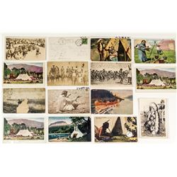Montana Native American Postcards