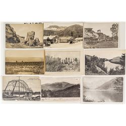 Nine Rural Montana Postcards
