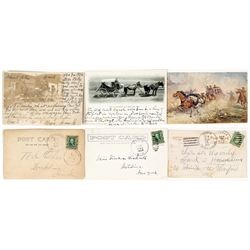 Three Montana Stagecoach Postcards