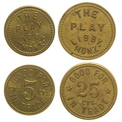 Two R-7 The Play Tokens (Libby, Montana)