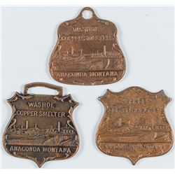 Washoe Copper Smelter Tokens (Anaconda, Montana)