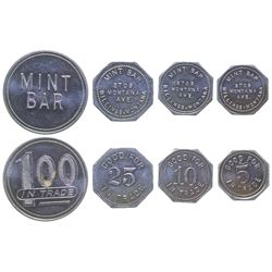 Billings Complete Set of Mint Bar Tokens