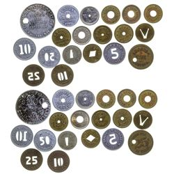 Billings Cut and Punched Tokens