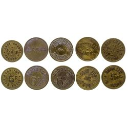 Billings Saloon Tokens