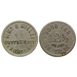 Butte Sims and Miller Token