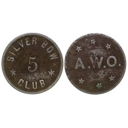 Silver Bow Club Token (Butte, Montana)