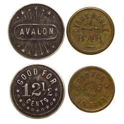 Avalon and Cyrus Noble Bar Tokens (Butte, Montana)