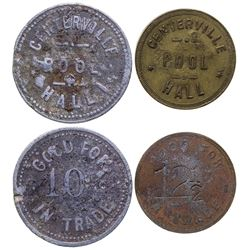 Two R-7 Centerville Tokens: Pool Hall