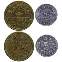 Two R-8 Harrison Tokens