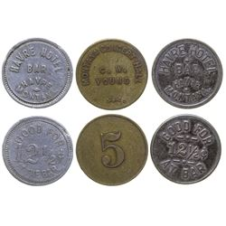 Havre Hotel and Concert Hall Tokens