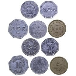 Helena Billiards and Central Park Tokens