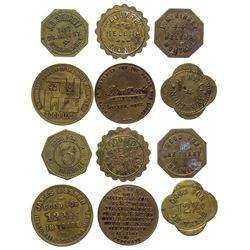 Not Round and Over-sized Store and Bar Helena Tokens