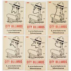 "City Billiards ""Smile!"" Cards (Lewiston, Montana)"