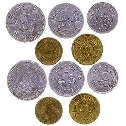 Missoula 'Clubs' and Atlantic Hotel Tokens