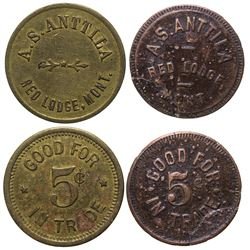 Complete Red Lodge A.S. Anttila Token Set